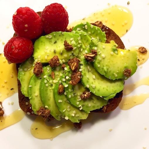 avocadotoastgranolahoneyraspberries