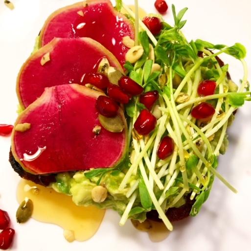 avocadotoastsproutsradishpumpkinpomegranateseeds